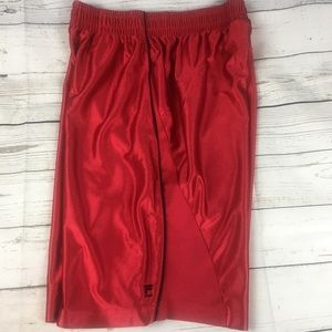 Fila Red with Black Basketball Shorts Mens Small